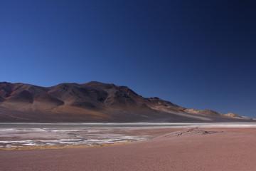 Lagune d'altitude au Chili
