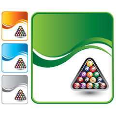 Billiard balls on multicolored wave backgrounds