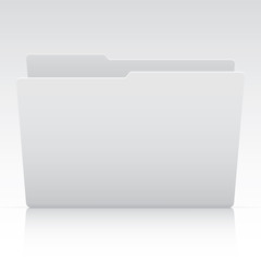 Office Elements - White File Folder