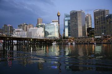 Dusk over Darling harbour,Sydney