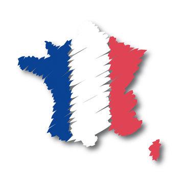 mappa bandiera France