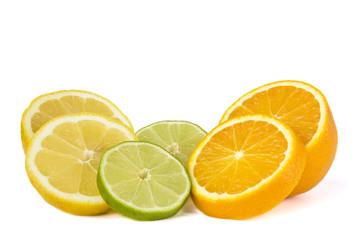 Orange, Limette und Zitrone