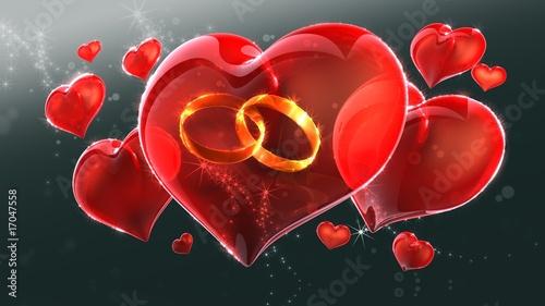 Herz Mit Hochzeitsringen Stockfotos Und Lizenzfreie Bilder Auf