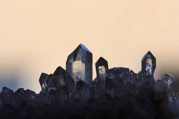 Bergkristall im Abendlich