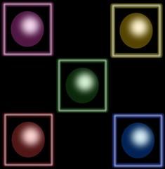 cerchi colorati con sfondo nero