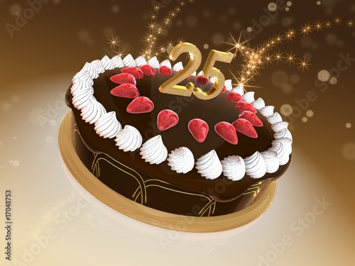 Torte 25 Jubilaum Stock Photo And Royalty Free Images On Fotolia