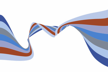 Colourful Abstract Wavy Ribbon