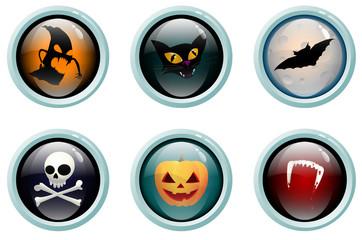 Halloween glass buttons