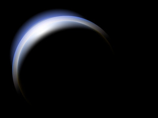 crescent of a planet