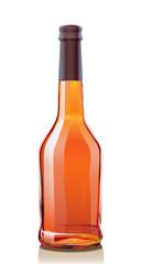 Vector illustration Bottle Cognac. Serie of images.