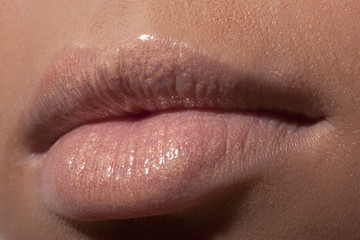 Lips of the young girl