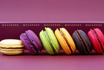 Printed kitchen splashbacks Macarons assortiment de macarons appétissants