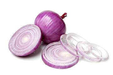Red Onion with Slice and Rings