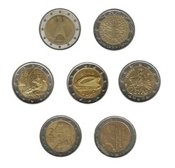 flower of euro coins
