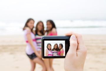 digital shot of teens on camera