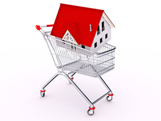 Cart with house