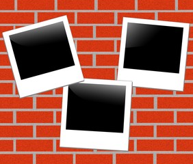 illustration of brickwall background with a photo frame