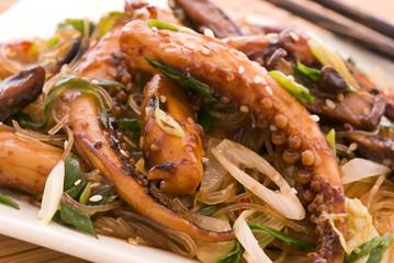 Kalmar mit Gemüse
