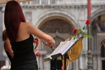 Violinista in piazza