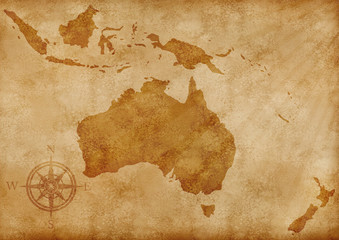 Australia old map illustration