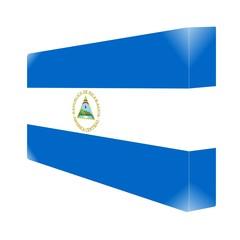 brique glassy avec drapeau nicaragua