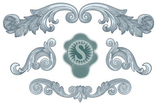 Dollar design elements vector
