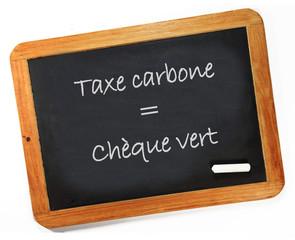 taxe carbone = chèque vert