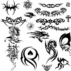 Tattoo collage 8 (vector)