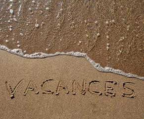 Vacances dans le sable