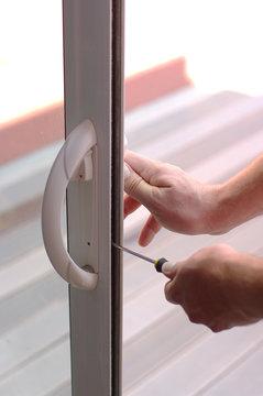 réparation d'une baie vitrée