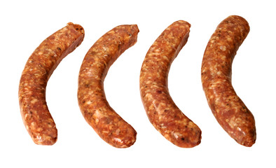 four breakfast sausages