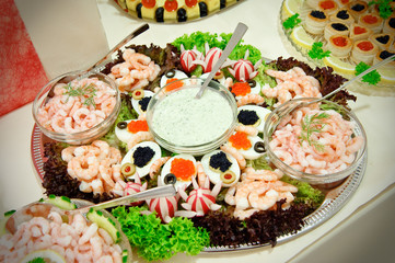 Catering buffet style