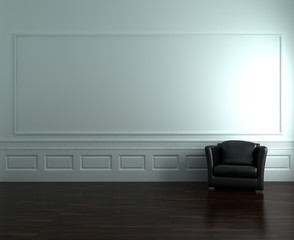 Armchair to  face a blank wall