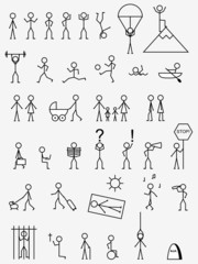 Activities, job and life situations pictograms.