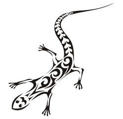 Tribal lizard vector tattoo