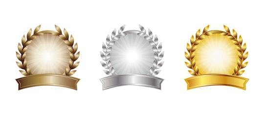 bronze, silver, gold