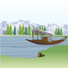 landscape view of boat