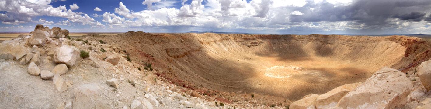Panoramic view of Meteor Crater - Arizona