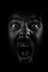 Scream of spooky scary dark horror face