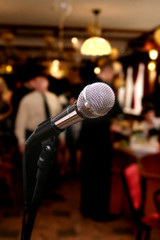 Microphone in cafe