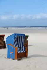 Srandkorb am Strand von Juist - beach chair
