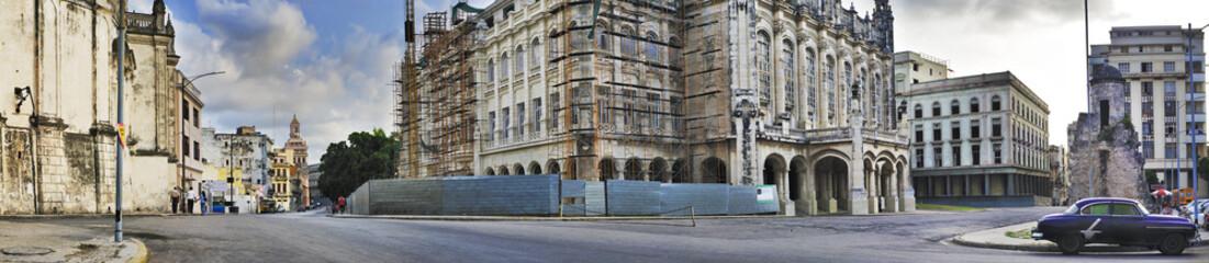 Havana buildings and car panorama