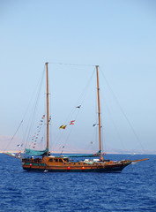 The yacht on Red sea