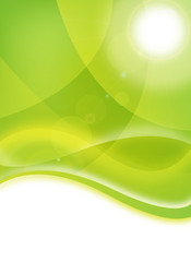 green environmental flyer