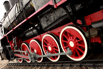Wheels of the old express train