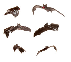 Series of black bats on white