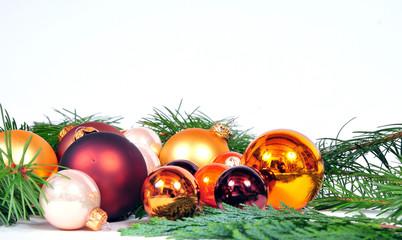 Weihnachten goldene Kugeln