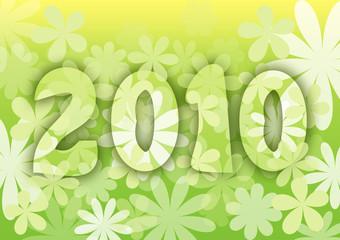 New year 2010  calendar - flourish style