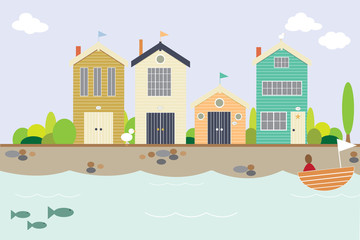 Seaside houses