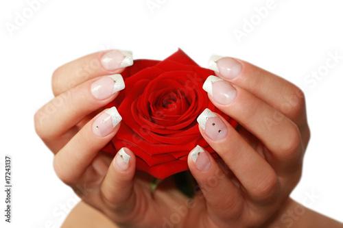 french fingern gel stockfotos und lizenzfreie bilder auf bild 17243137. Black Bedroom Furniture Sets. Home Design Ideas